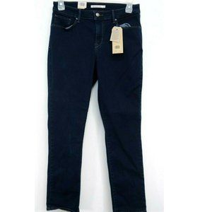Levis Womens Blue Classic Mid Rise Skinny Stretch